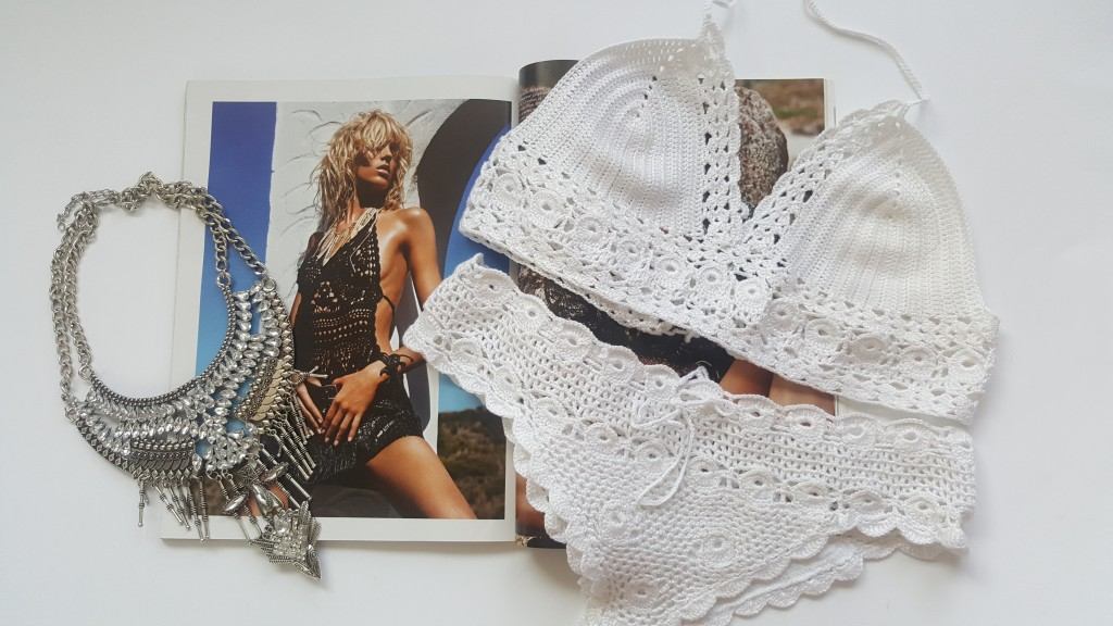 Cusher boho knitterd swimwear